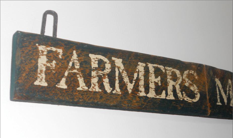 Vintage Farmers Market Sign the farmer s market wasn t
