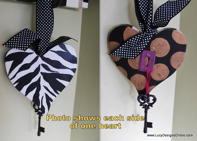 hand painted zebra heart ornament