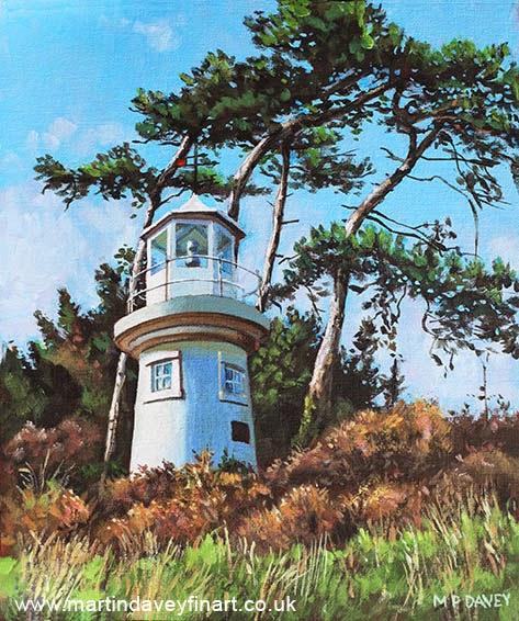 Lepe Lighthouse Hampshire-acrylic painting