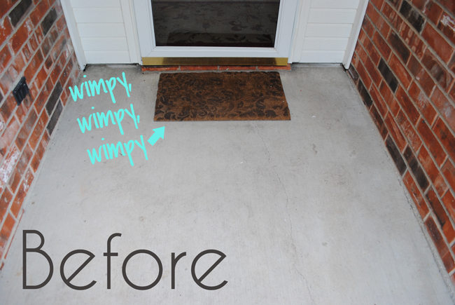 DIY Monogram Door Mat {made In Less Than One Hour!}