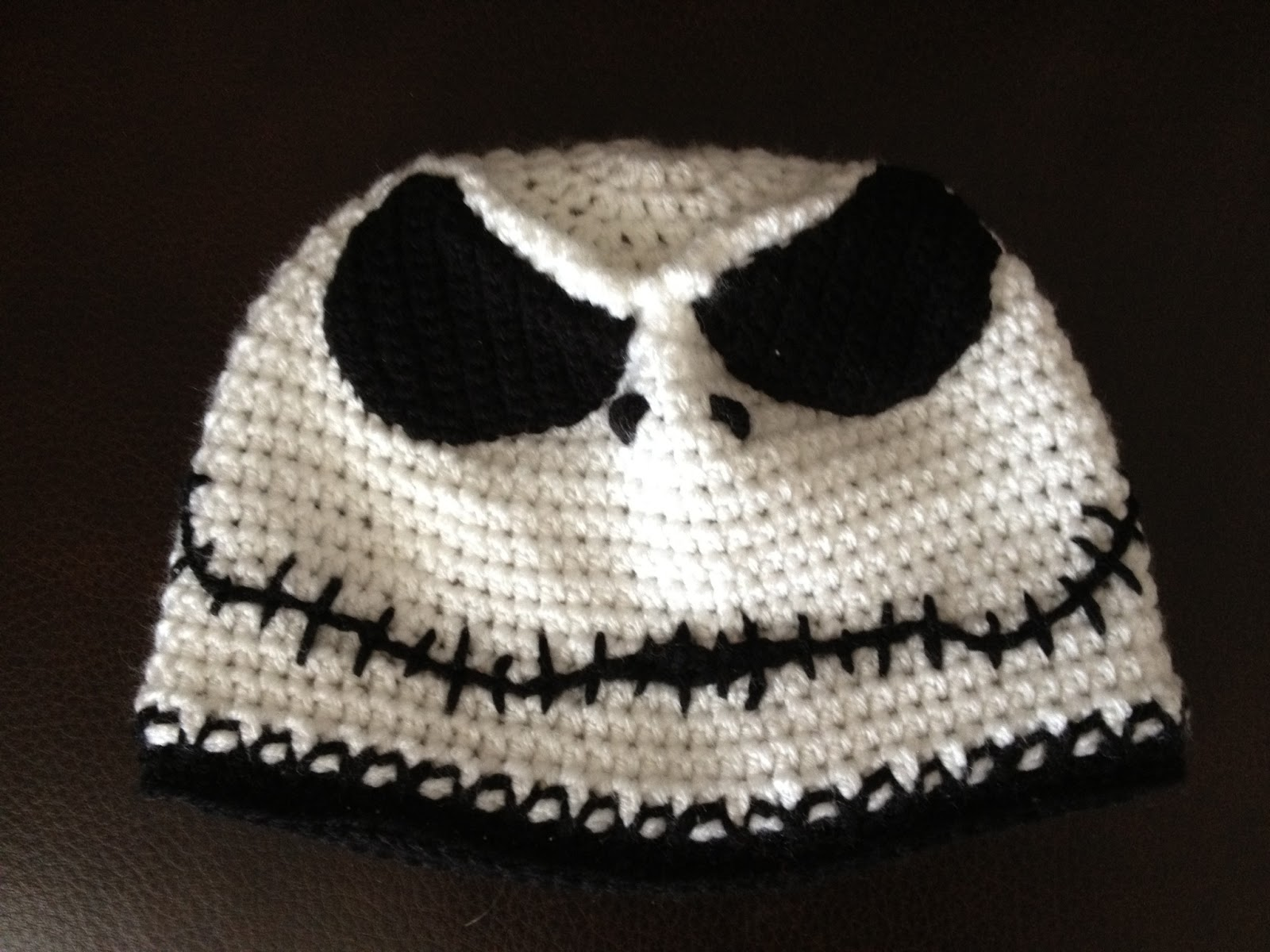 jack skellington crochet hat beanie style jack skellington crochet hat