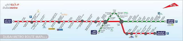 Dubai City Tour Green_Line map