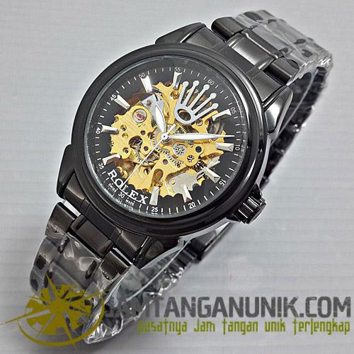 jam tangan rolex automatic rantai tanpa baterai