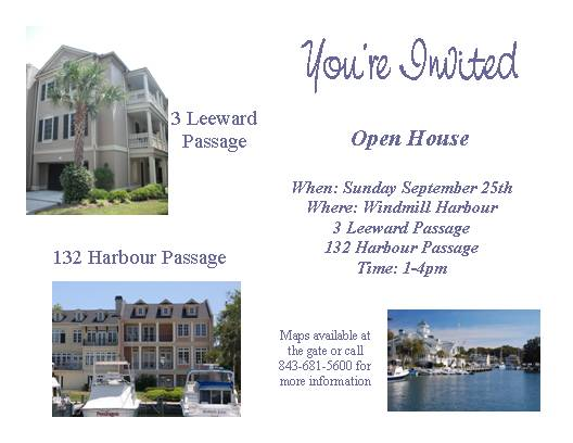 Hilton Head Island Real Estate: Open House Invitation ~ Sunday ...