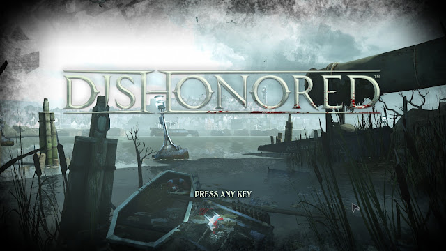 Dishonored title screen