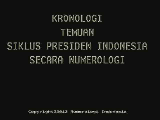 Kronologi Temuan SIKLUS PRESIDEN INDONESIA