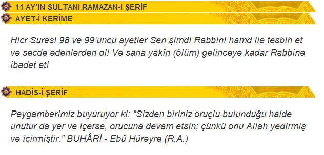 11 AY'IN SULTANI RAMAZAN-I ŞERİF
