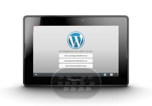 Ahora WordPress disponible para PlayBook esta aplicación te permite: Escribir mensajes, editar páginas, y gestionar los comentarios sobre la marcha. Tanto WordPress.com y auto-organizada sitios WordPress (2.9.2 o superior) son compatibles. Descarga la aplicación y comienza a publicar en el camino en muy poco tiempo. Compatibilidad BlackBerry PlayBook OS 2.0 o Superior Descarga APPWORLD Fuente:blackberrygratuito