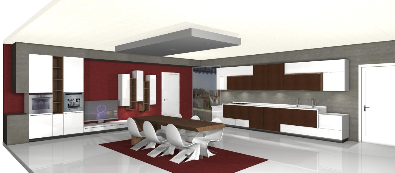 Centro kitchenmaster madrid 3d cocinlux estudio con for Software diseno de cocinas integrales