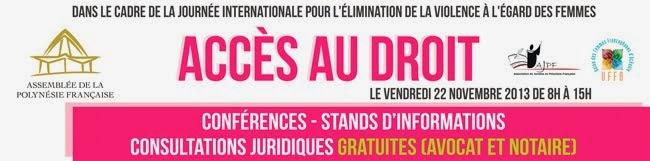 Journée accès au droit vendredi 23 novembre 2013