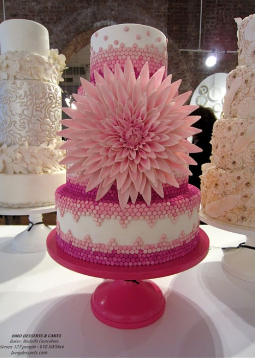 Cool Things for Weddings Colored Wedding Cake Stands When that silver
