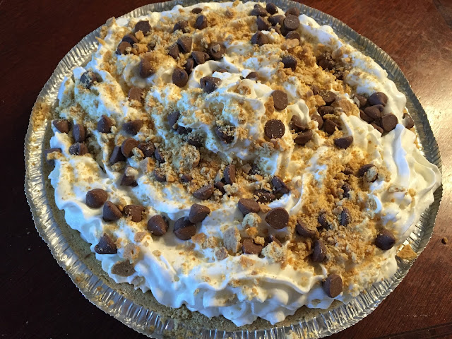 Chocolate S'mores Pudding Pie Recipe #ReadySetSnack