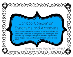 http://www.teacherspayteachers.com/Product/Cariboo-Companion-Synonyms-and-Antonyms-1463829
