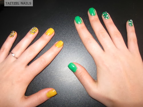 manichiura colorata cu puncte