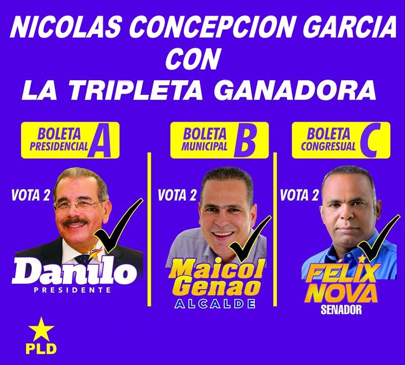 NICOLÁS CONCEPCIÓN GARCÍA CON MAICOL GENAO