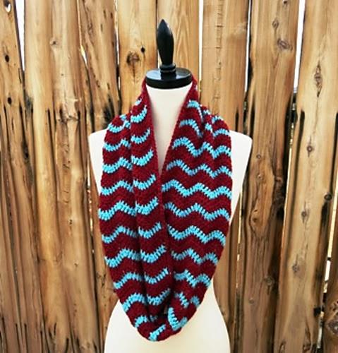 free crochet pattern chevron infinity scarf