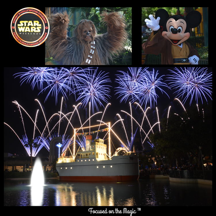 Focused on the Magic, Star Wars Weekend I 2014, Symphony in the Stars Fireworks,Echo Lake, Wookie, Jedi Mickey