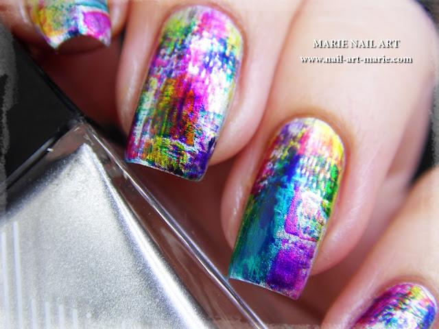 nail art dry brush infinite ombré3