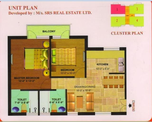 SRS Affordable Flat Floor Plan
