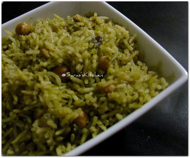 mint channa pulav