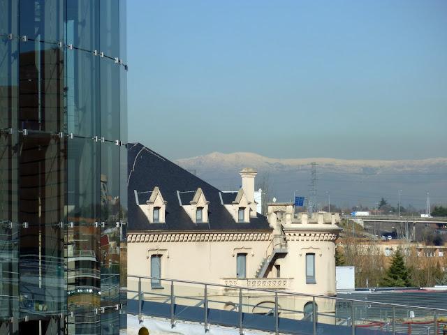 AASB visita CREAA. Paisaje de la Sierra de Madrid, los Castillos de Valderas y el Circo en primer término