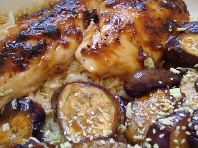 Miso Cod and Japanese Eggplant over Sesame Cabbage Rice | Cooking with ...