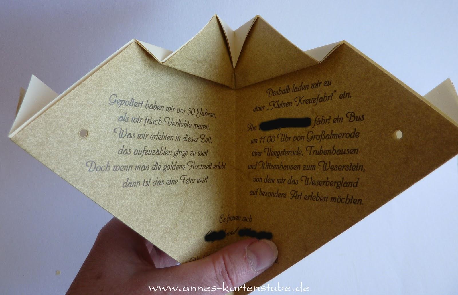 annes kartenstube: einladungen zur goldenen hochzeit, Einladung
