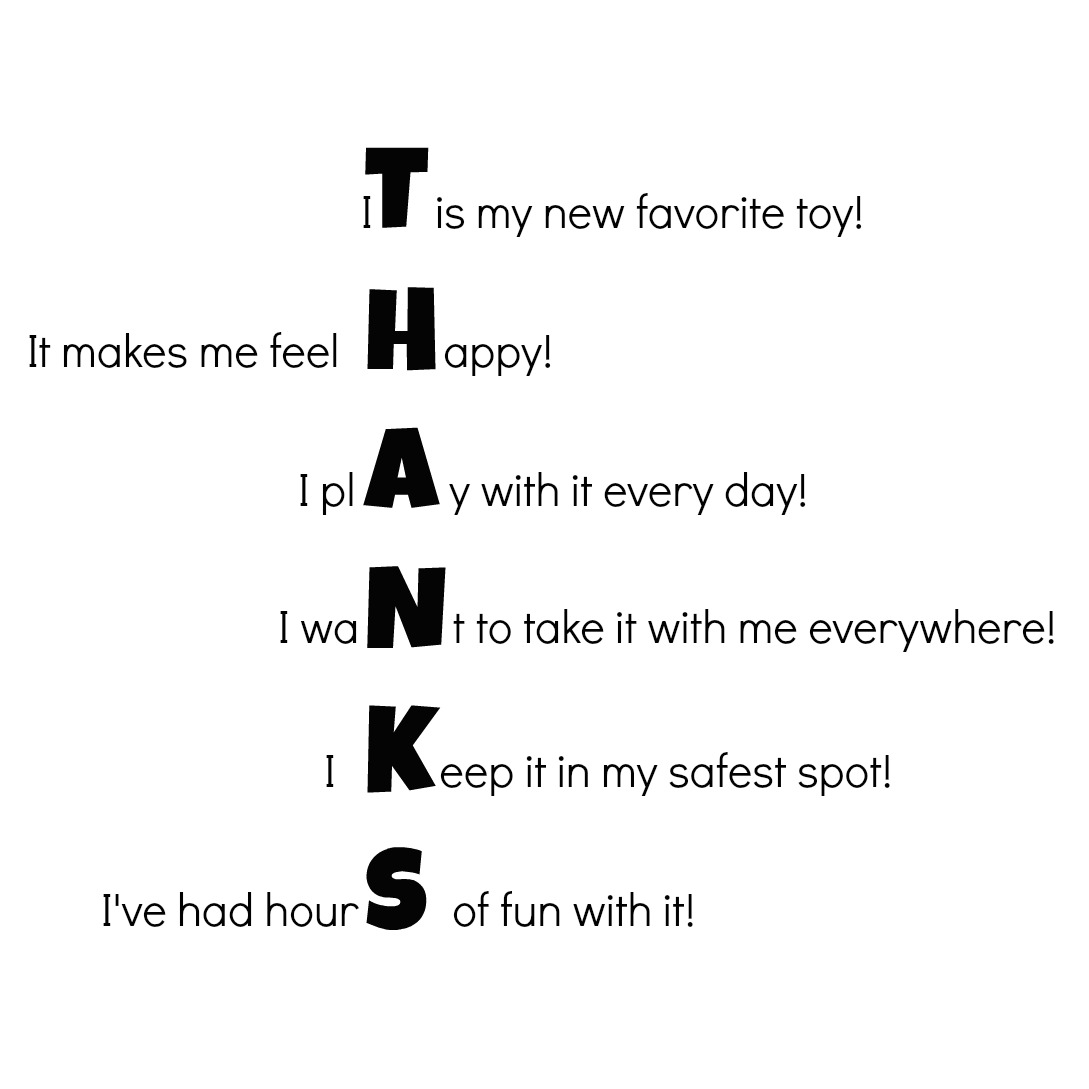 Creative) Ways to Help Your Child Say Thank You (free printable