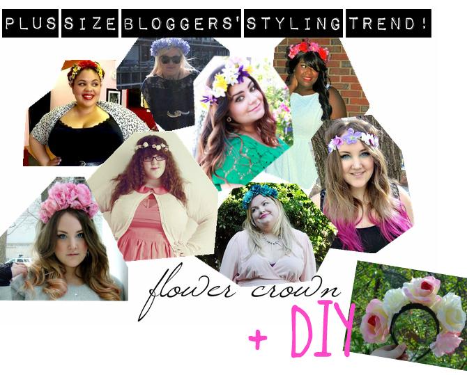 coroncine di fiori indossate dalle blogger plus size
