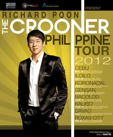 richard poon 2012 concert, Richard Poon The Crooner Philippine Tour