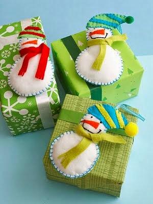 Moldes para boneco de neve de feltro e tecido