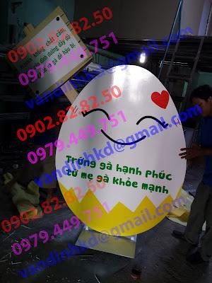 standee mô hình quả trứng