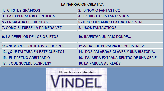 http://www.cuadernosdigitalesvindel.com/libres/fnarracioncreativa.php