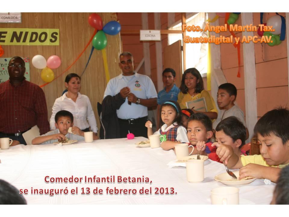 Noticias la esfinge comedor infantil betania se inaugur for Proyecto de comedor infantil