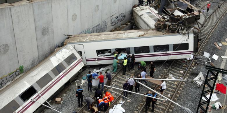 Kecelakaan Maut Kereta Spanyol, Korban Masih Mungkin Bertambah