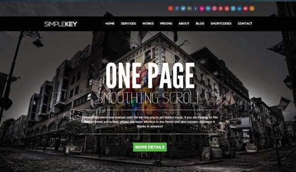SimpleKeySimpleKey-Responsive-one-page-portfolio-WordPress-Theme