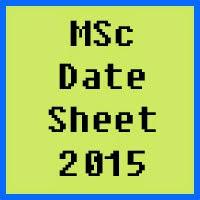IUB MSc Date Sheet 2016 Part 1 and Part 2