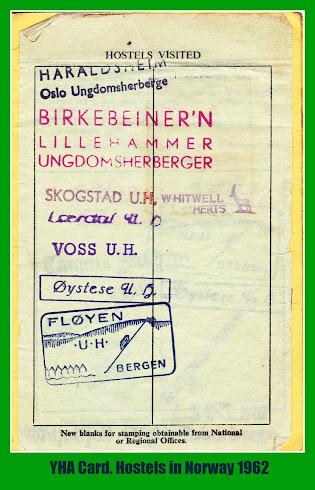 YHA Card - 1962