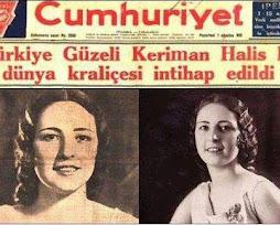 1932 yılında belçikada yapılan güzellik yarışması Keriman halis