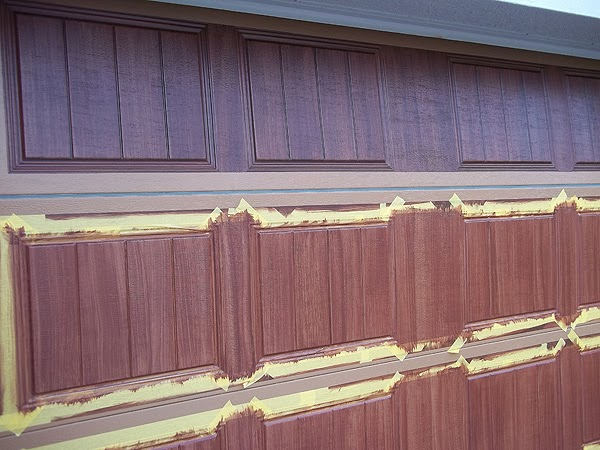 Off to a good start everything i create paint garage for Paint garage door to look like wood