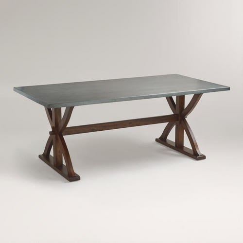 COST PLUS WORLD MARKET METAL WRAPPED BRAXTON DINING TABLE