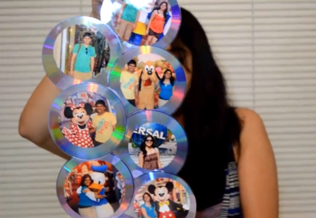 photo frame from cds