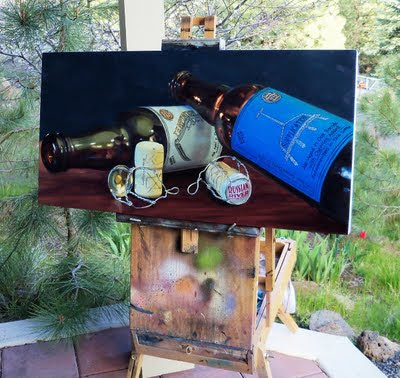 Russian River Brewing oil painting