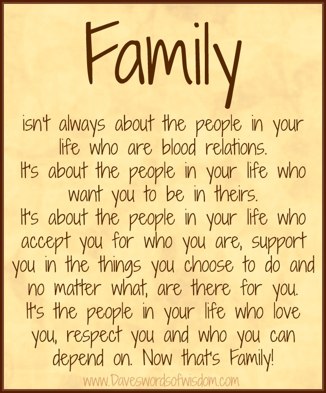 Daveswordsofwisdom.com: What Is family All About?