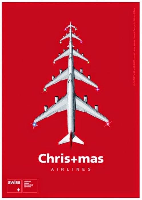Publicidad creativa, navidad, Swiss Air