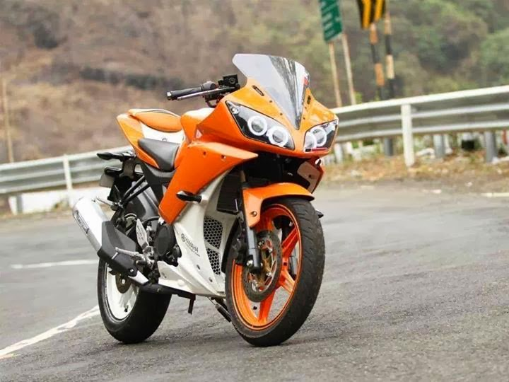 R15 V2 Modified With Projector Lights Yamaha R15 v2 W...