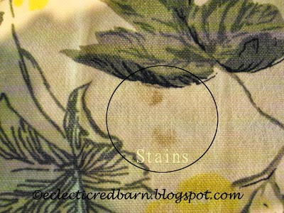 Eclectic Red Barn: Stains on a tablecloth