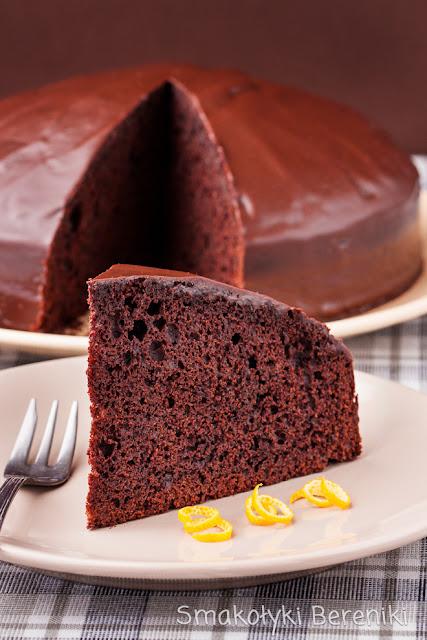 Ciasto z czekoladą gorzką i pomarańczą