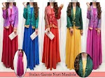 Gamis Satin Blazer Songket India SOLD OUT