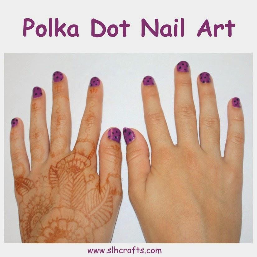 nail art polka dot